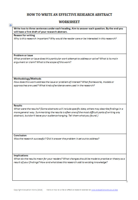 how-to-write-an-effective-research-abstract-worksheet